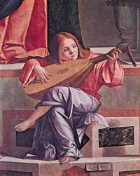 Vittore Carpaccio, 1510, Angel with Lute