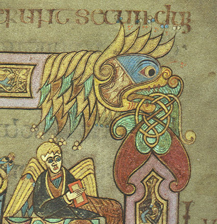 A section of illumination from the Book of Kells